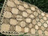 De natuurlijke Met de hand gemaakte Deurmat van het Tapijt van het Stro, de Dekens van de Mat van het Kussen van de Mat van de Zetel