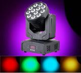Het Licht van het Effect van DJ van de Was 12PCS van de hoge Macht RGBW 3W