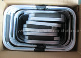 Cesta de compra apropriada do frame Foldable da liga de alumínio e cesta do piquenique