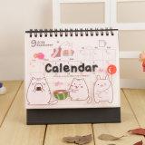 Servicio de impresión de encargo del calendario del Hardcover del escritorio del Alambre-o del nuevo estilo