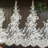 Ajuste nupcial del cordón del bordado para la alineada de boda