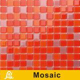 Mosaico de cristal da grama da cor quente da venda 4mm para a série do painel da cor da piscina (cor P07/P08/P09)