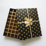 Rectángulo de regalo de papel vendedor caliente del chocolate con el arqueamiento
