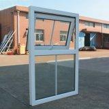 Белое стекло двойника окна тента профиля цвета UPVC с решеткой Kz347