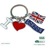 Catene chiave personalizzate del Regno Unito dello smalto di serie