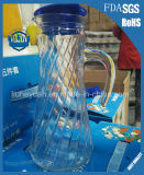 La boisson froide de bouilloire en verre en plastique de couvercle met en boîte 900ml
