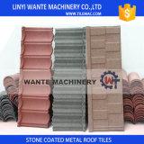 La azotea revestida del metal de la piedra colorida escalona los azulejos, azulejo de material para techos de acero, azulejo de azotea de acero del cinc de aluminio