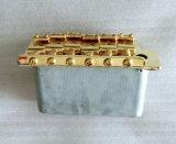 Tremolo en acier de guitare de début d'or de selle avec le bloc normal
