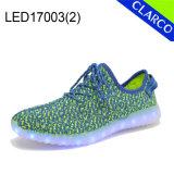 El LED unisex se enciende para arriba se divierte los zapatos de la zapatilla de deporte