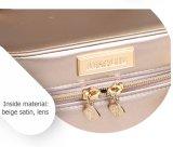 La moda de joyería cosmética caja de almacenamiento de PU impermeable con cierre de cremallera