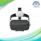 Vidrios estéreos de Vr del rectángulo de la cartulina 3D del casco del receptor de cabeza de cuero de la realidad virtual
