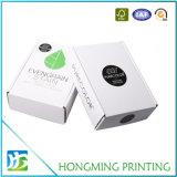 Faltbarer weißer verpackenpapierkasten für Kleid