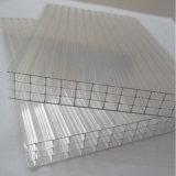 Feuille de toit de polycarbonate de mur du PC quatre/feuille creuse givrée de PC