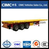 Cimc平面トレーラー40フィート3の車軸40トン