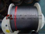 AISI 304 7X19 스테인리스 철사 밧줄 케이블