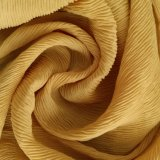 Tela 100% da dobra do Crepe do poliéster para o vestuário