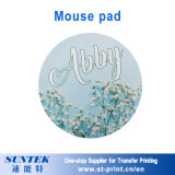 Tapis de souris de forme ronde avec le blanc de sublimation d'impression de sublimation