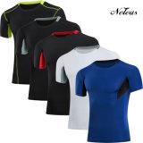 Camiseta de la ropa de la gimnasia del desgaste de la aptitud de la compresión de los hombres de Dt0850 Neleus