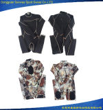 Os Mens camuflam o Wetsuit de Spearfishing do mergulho da parte traseira do Zipper do neopreno de 3mm