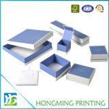 Cadre de empaquetage de bijou de papier estampé par logo fait sur commande