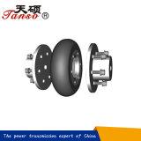 Couplage flexible de pneu avec l'élément en caoutchouc