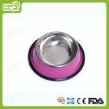 Bacia personalizada colorida do animal de estimação do aço inoxidável, produto do cão