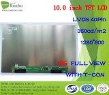 """10.1 """" IPS 1280X800 Lvds 40pin 350CD/M2 Aangepaste Dunne TFT Vertoning LCD"""