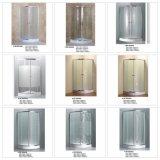 Cerco de vidro do chuveiro da tela da porta deslizante do quadrante da porta dobro