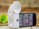 Altofalantes altos do External dos telefones móveis do mini estilo portátil do chifre do silicone