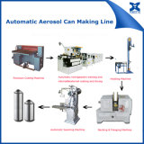 Lata de pulverizador automática do aerossol que emenda a máquina