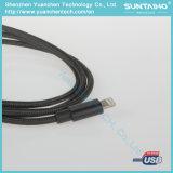 Cable trenzado de nylon del relámpago del cable de la carga y de datos del USB