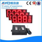 Panneau électronique rouge de prix du gaz de pouce DEL de Hidly 12