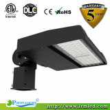 Indicatore luminoso di via registrabile dell'indicatore luminoso LED del parcheggio del supporto 100W LED con rivestimento del Brown scuro