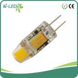 Lámparas G4 1W COB LED de luz blanca de AC / DC 12V no regulables