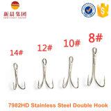 Crochet de pêche à la traîne à double épaisseur Silver Color Stainless Steel 7982