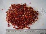 Coupe d'un rouge ardent de piments