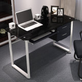家庭内オフィスの家具のキーボードおよび引出しとのオフィスの調査のためのガラスコンピュータの机