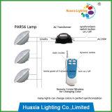 luz de controle remoto da piscina do diodo emissor de luz PAR56 do fio de 35W AC12V RGB dois