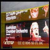 Visualizzazione di LED P4, schermo dell'interno del LED, facente pubblicità alla visualizzazione di LED