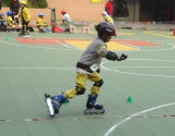 Nicecourtの連結のスケートで滑る床タイル、ローラースケートで滑る床、インラインホッケー