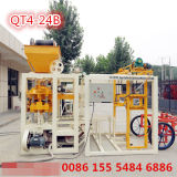 Halb automatische Qt4-24b Straßenbetoniermaschine-Ziegeleimaschine fester Block-Hersteller