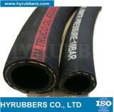 Boyau noir en caoutchouc tressé de pétrole de tissu à haute pression