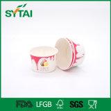 Papel disponible impreso desplazamiento al por mayor del tazón de fuente del alimento del tazón de fuente de ensalada del tazón de fuente del helado del tazón de fuente de papel del color mezclado de China