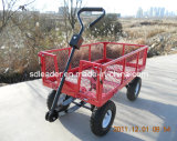 Giardino Cart di Steel Meshed di alta qualità con Removable Folding Sides (TC1804A)