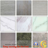 Gris/White/Black Wooden Marble para Flooring Tile, Slab