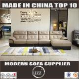Sofa moderne Lz8803 de cuir véritable de salle de séjour