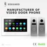 Pantalla táctil 7 pulgadas del timbre de intercomunicador Doorphone video de la seguridad casera con memoria