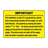 Abrasione, etichette di avvertimento esterne resistenti UV e chimiche di sicurezza
