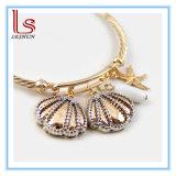 Dubbele Shells en Ster Cystals Brcelets