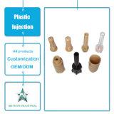Noix en plastique de moulage personnalisées de vis de pouce de dispositif de fixation de produits injection en plastique
